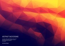 Abstract background in the polygonal style. The surface of the triangles. Geometric texture Royalty Free Stock Photography