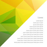 Abstract background in the polygonal style. White empty space. Fresh colors Stock Image
