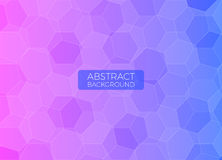 Abstract background with polygons. Abstract background, polygons in purple and blue colors. Can be used for banners, web design, templates stock illustration
