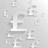 Abstract Background with Pound  Symbol. Stock Photos