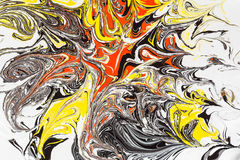 Abstract background with a predominance of yellow, red and black colors, art abstraction Stock Photos