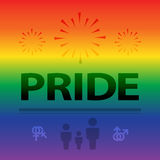 Abstract background of pride celebration in colorful rainbow bac Stock Images