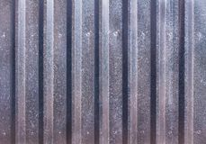 Abstract background of a profiled sheet fence decking. With vertical strips Royalty Free Stock Photography
