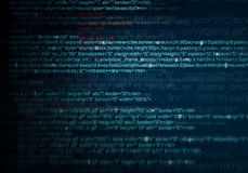 Abstract Background of program web code Royalty Free Stock Photos