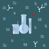 Abstract background for projects related to chemistry, science, biology. Royalty Free Stock Photos