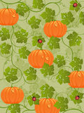 Abstract background with a pumpkin. Vector illustration Stock Images