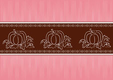 Abstract background with pumpkins Royalty Free Stock Images