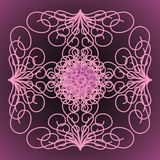 Abstract background. Purple background with abstract patterns and roses vector illustration