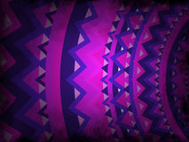 Abstract background - purple and pink with black grunge - mandala style Royalty Free Stock Images