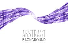Abstract background with purple wave. On white Royalty Free Stock Image