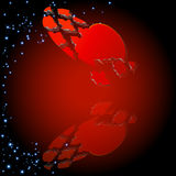 Abstract background with puzzle heart. Royalty Free Stock Photos