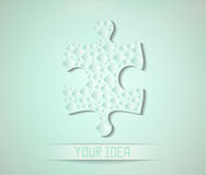 Abstract background with puzzle-shaped object and  Stock Image