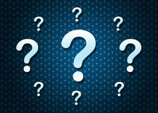 Abstract background with question marks Royalty Free Stock Photography