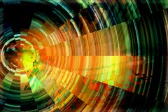 Abstract background of radial pixels. Stock Images