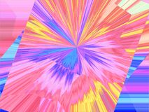 Abstract background with radiant rays.  Royalty Free Stock Photo