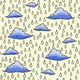 Abstract background with rain and cloud Stock Image