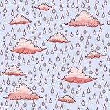 Abstract background with rain and cloud Royalty Free Stock Photos