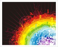 Abstract background with rainbow Royalty Free Stock Photos