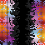 Abstract background with rainbow colorful pixels Royalty Free Stock Images
