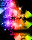 Abstract Background with Rainbow Gradient. Light Sparkle Background with Rainbow Gradient Stock Photo