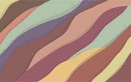 Rainbow Mountains background royalty free illustration