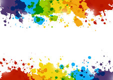 Abstract background with rainbow paint splashes. On white Royalty Free Stock Photography