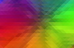 Abstract Background with Rainbow Spectrum Colors and Triangular Pixelation Effect stock illustration