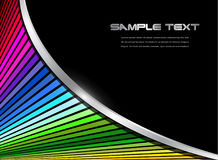 Abstract background with rainbow striped pattern. And metallic wave, 3D vector design Royalty Free Stock Photography