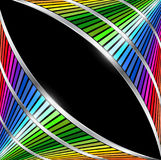 Abstract background with rainbow striped pattern. And metallic wave, 3D vector design Stock Photography