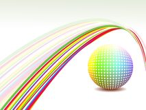 Abstract background rainbow wave. Shiny colorful ball royalty free illustration