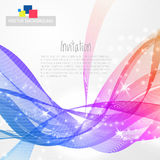Abstract background with rainbow wave Stock Photography
