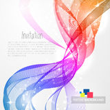 Abstract background with rainbow wave Royalty Free Stock Photography