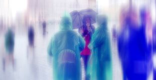Free Abstract Background. Rainy Day. Hauptmarkt, The Central Square O Royalty Free Stock Photo - 53046515