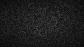 Abstract background of circles. Abstract background of randomly arranged contours of circles in black colors Stock Illustration