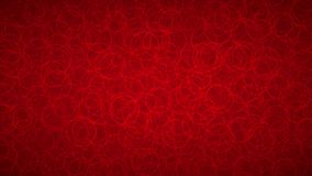 Abstract background of circles. Abstract background of randomly arranged contours of circles in red colors Stock Illustration