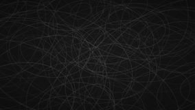 Abstract background of elipses. Abstract background of randomly arranged contours of elipses in black colors Royalty Free Illustration