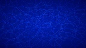 Abstract background of elipses. Abstract background of randomly arranged contours of elipses in blue colors Stock Photos