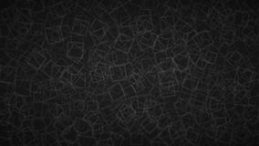 Abstract background of squares. Abstract background of randomly arranged contours of squares in black colors Royalty Free Illustration