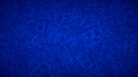 Abstract background of squares. Abstract background of randomly arranged contours of squares in blue colors Royalty Free Stock Images