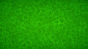 Abstract background of squares. Abstract background of randomly arranged contours of squares in green colors Vector Illustration
