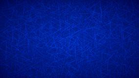 Abstract background of triangles. Abstract background of randomly arranged contours of triangles in blue colors Stock Illustration