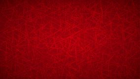 Abstract background of triangles. Abstract background of randomly arranged contours of triangles in red colors Stock Illustration