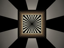 Abstract background with rays. And squares Royalty Free Stock Photos