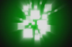 Abstract background rays green colour Stock Photography