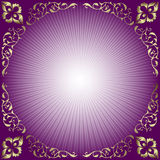 Abstract  background with rays (vector). Abstract lilas  background with rays and silvery curls Royalty Free Stock Photo