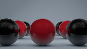 Abstract background with realistic colorful balls. 3d rendering Royalty Free Stock Photo