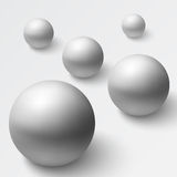 Abstract background with realistic grey spheres Royalty Free Stock Photography
