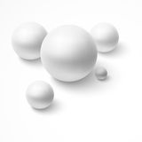 Abstract background with realistic spheres. Royalty Free Stock Photos