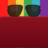 Abstract background with realistic sunglasses Stock Photography