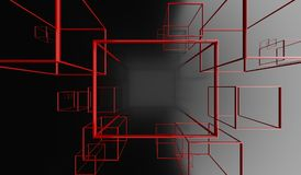 Abstract Background With Rectangle Frames. 3D Rendering Of Abstract Background With Rectangle Frames Stock Image